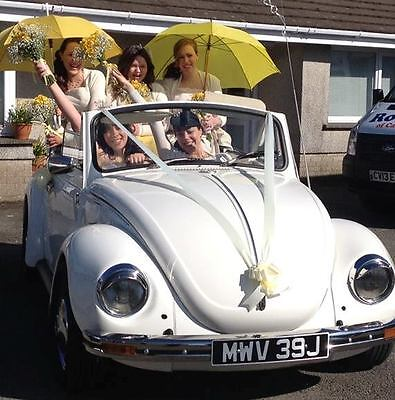 1971 VW Beetle Karmann Cabriolet Convertible with wedding hire website