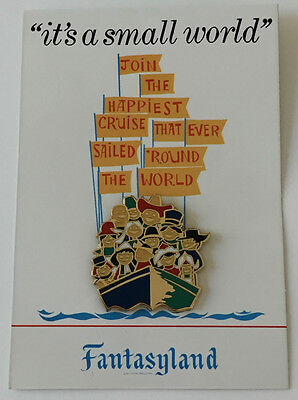 Disney Pin 69627 WDI - Attraction Poster Pin Card - 'it's a small world' LE 300