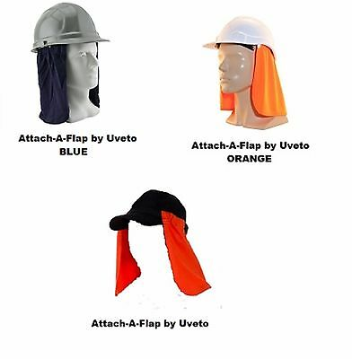 Uveto Attach A Flap Work Safety UV Sun Protection Hard Hat Headwear Workwear