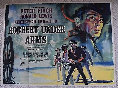 Robbery Under Arms, Original UK Quad Poster, Peter Finch, Eric Pulford art, '57