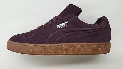 PUMA SUEDE CLASSIC Debossed Steel Grey Peacoat Gum Mens Size Sneakers 361098 01