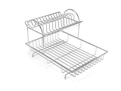 Addis 2-Tier Drainer Dish Draining Rack, Stainless Steel, 4-Piece 515629