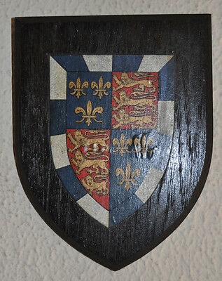 Vintage St John's College Cambridge plaque shield crest coat of arms