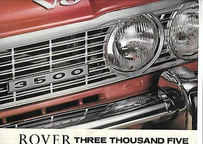 ROVER THREE THOUSAND FIVE V8 OVERSIZED SALES BROCHURE LATE 60's