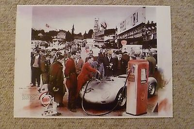 1959 Porsche RSK Spyder Showroom Advertising Sales Poster RARE!! Awesome L@@K