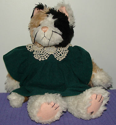 "Ganz Cottage Collectible Calico Cat Callie  1996 Mary Holstad  12+"" Tall ~ P"