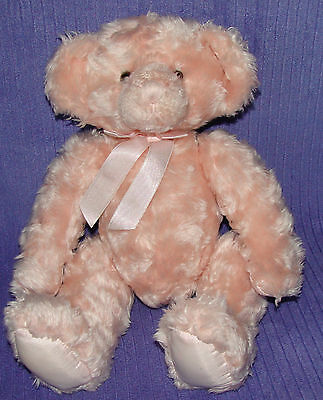 "Russplus Russ Bear 50019 Pink Curly Haired Bear Silky Pads On Paws/feet @14""~ Bu"