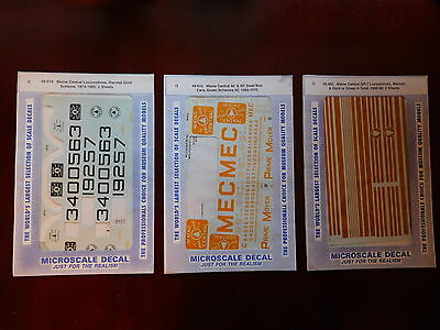 USED Microscale Decals Maine Central 48-519, 48-495 and 48-610