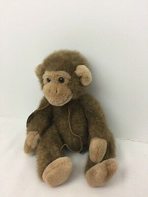 Jimby Monkey Russ the Heartcraft Collection Plush Leather Name Tag