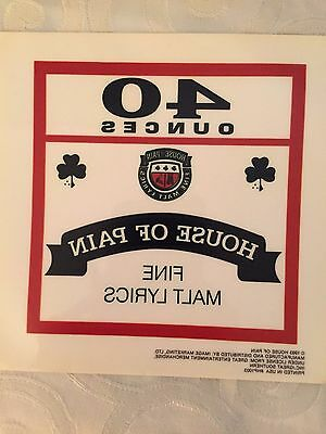 Vintage House of Pain 40 Ounces Decal