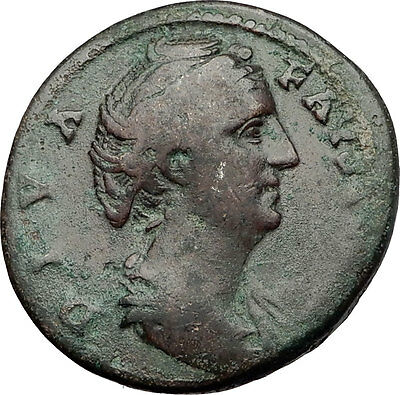 Faustina I 146AD Big Rare Sestertius Ancient Roman Coin Immortality Cult  i59020