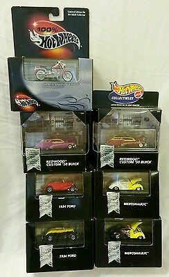 Lot of 7 100% Hot Wheels Collectibles Black Box 1:64 scale Diecast New