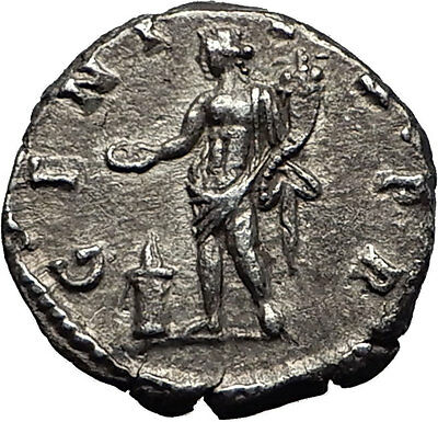 SEPTIMIUS SEVERUS 194AD Silver Authentic Ancient Roman Coin Genius Rare i59025