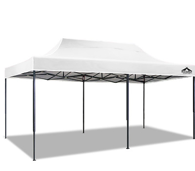 3X6M Pop Up Gazebo White Outdoor Camping Canopy Shelter Portable Sunshade Cover