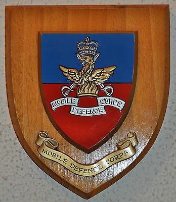 Mobile Defence Corps mess wall plaque shield crest British Army Cold War