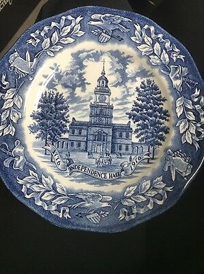 Vintage Avon Independence Hall 1976 Bicentennial Plate By Enoch Wedgwood England