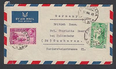 Ethiopia 1948 Airmail Cover Addis Ababa To Cuxhaven Germany