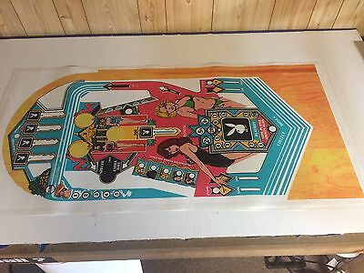 PLAYBOY Pinball Machine Playfield Overlay UV PRINTED - Clear Inserts -