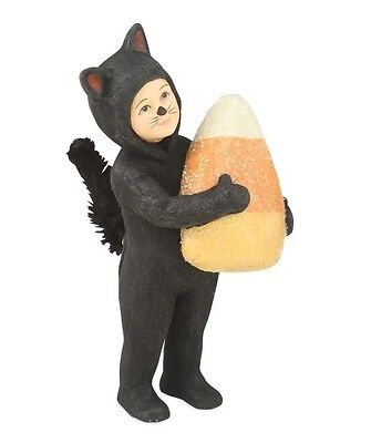 Bethany Lowe Catnip Black Cat Child Trick or Treater Candy Corn Halloween Figure
