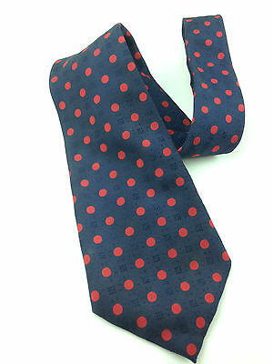 Red Polka Dot Vintage Necktie 70's Wide - Neck Tie Cool Black Hipster Woven Poly