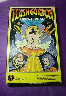 Vintage Flash Gordon #646 Color forms Toy Adventure Set 1980