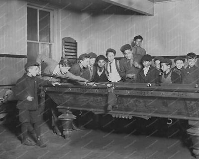 Boys Watching a Game of Billiards   Professional Photo Lab Reprint