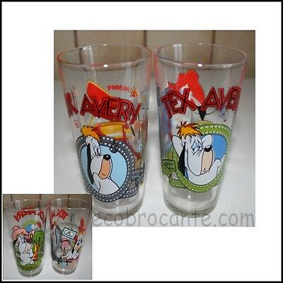 lot de 2 verres à moutarde TEX AVERY DROOPY Collector 25 cl
