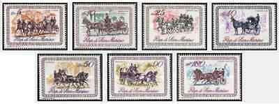 Timbres Chevaux St Marin 736/42 ** lot 18245