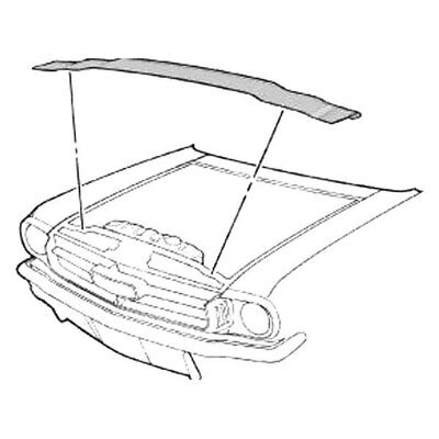 for ford mustang 1964 1970 goodmark radiator support to hood seal 1968 Mustang Pricing for ford mustang 1964 1970 goodmark radiator support to hood seal kit