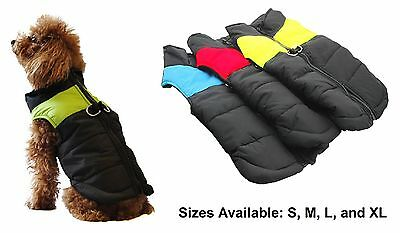 Dog Pet Puppy Small Padded Quilted Coat Jacket Puffer Warm Insulated Water-repel