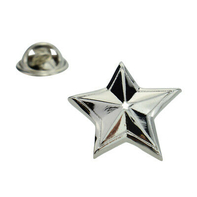 Rhodium Plated Star Lapel Pin Badge X2AJTP558