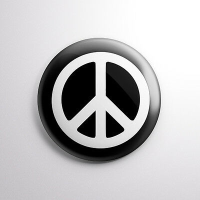 Peace Symbol Sign Pin Button Badges 25mm 1 inch Diameter. Set of 3