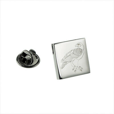 Eagle on Perch Design Engraved Lapel Pin Badge (0367) XOMTP165