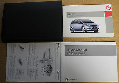 Vauxhall Zafira B Owners Manual Handbook Wallet 2008-2014 Pack 13670