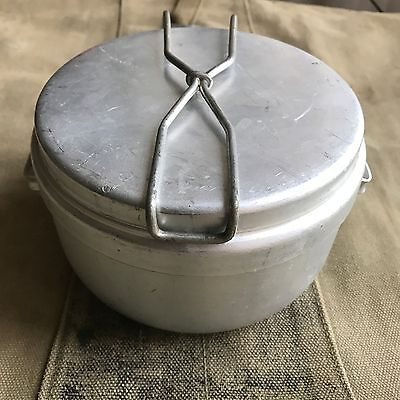 Vintage 3 peace  mess tin billy can & cutlery military field cooking army