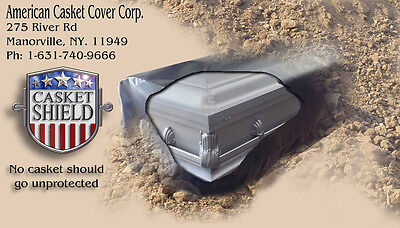 Casket Cover Shield Funeral Cemetery Grave Burial Element Water Protection USA