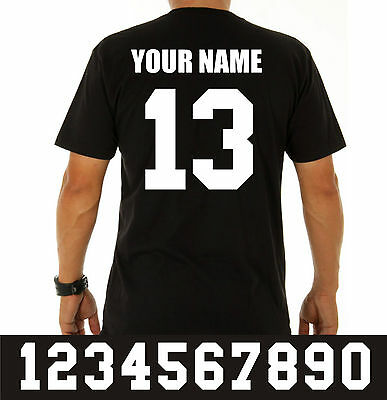 Iron On Heat Transfers Number Name Set Sports Bag School Team Play Soccer Rugby