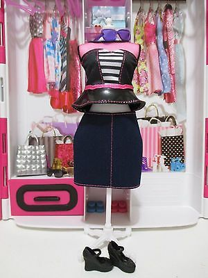 Barbie Fashionistas evolution doll 27 curvy OUTFIT NEW! 4 piece