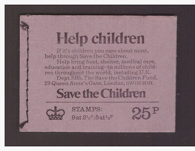 Great Britain GB 1973 June Booklet  Help children complete  mint stamps SG DH52