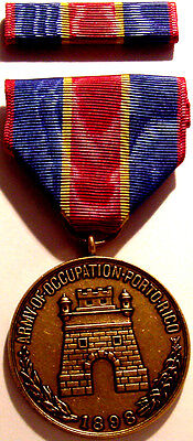 1898 U.S. Army Occupation Puerto Rico Medal