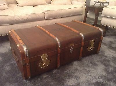 Vintage Travel Trunk / Luggage Coffee Table