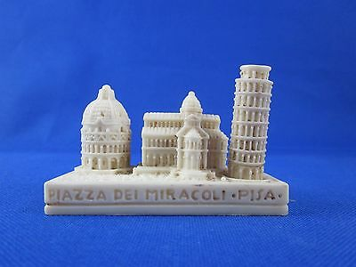 Vintage Leaning Tower of Pisa Plaza Carved Stone Souvenir