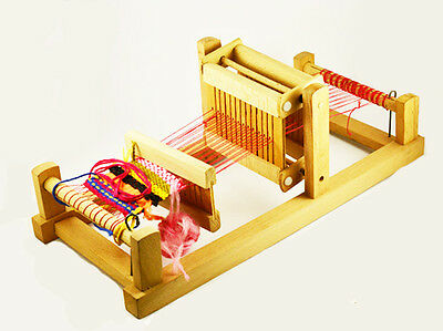 1970s Vintage Wooden Small Child WEAVING LOOM