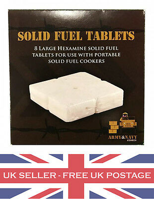 48 X Solid Fuel Hexi / Hexamine Tablets For Camping Stoves