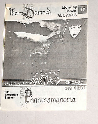 Original 1985 DAMNED JESUS AND MARY CHAIN Chicago PUNK FLYER GIG POSTER