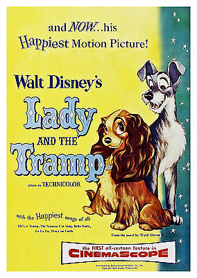Lady and the Tramp (1955) V2 - A1/A2 POSTER **BUY ANY 2 AND GET 1 FREE OFFER**