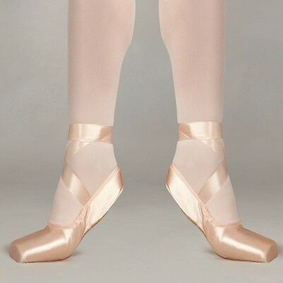 Pink satin Freed demi pointe soft block pointe shoes - assorted sizes and widths