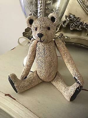 Old Vintage Clay Teddy Bear With Moveable Joints