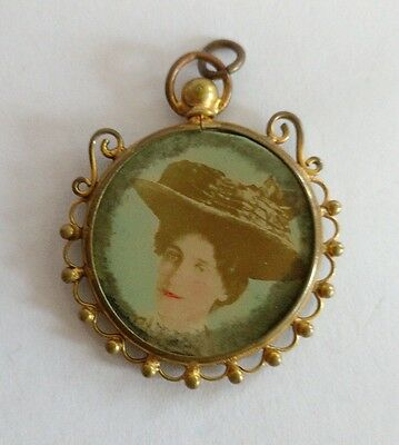 Edwardian double sided photo pendent