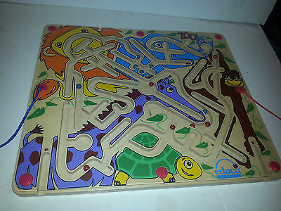 EDUCO Zoo Magnetic Wooden Maze Circle Colors Puzzle kids toy